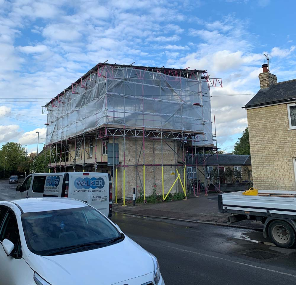 This temporary roof was put up in Waterbeach Cambridge