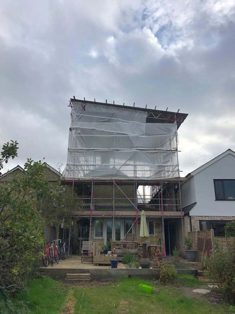 The scaffold was put up in Royston