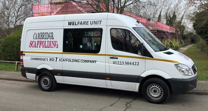 Cambridge Scaffolding Welfare Unit